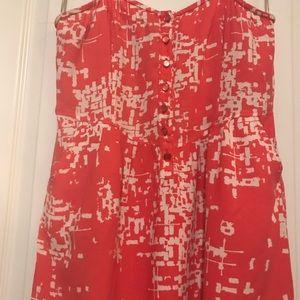 Fun patterned tunic top